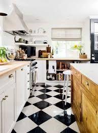 Black And White Kitchen Floor