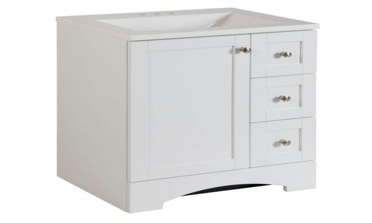 24 Inch White Bathroom Vanity