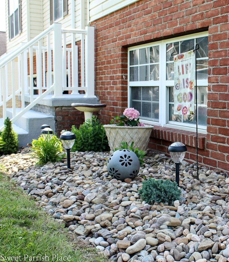 Rock Garden Ideas For Front Of House