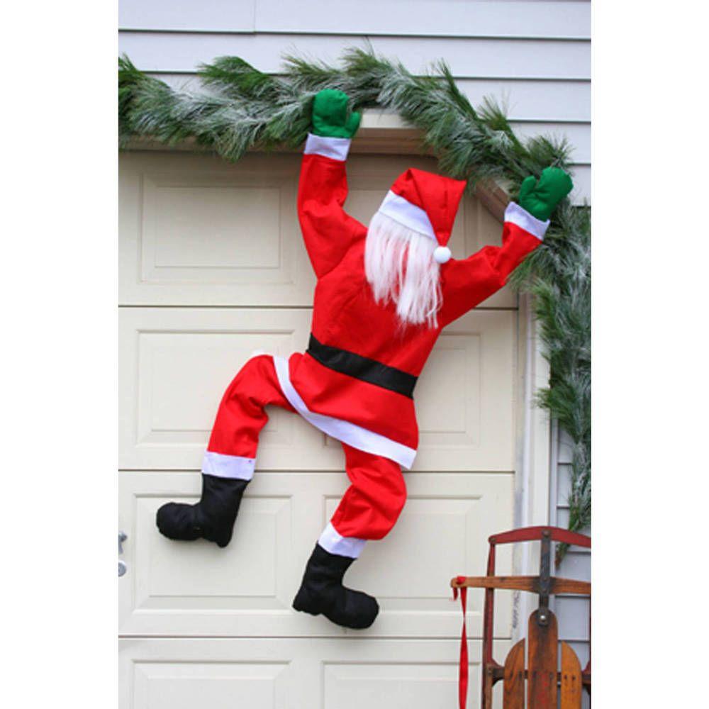 Santa Climbing Ladder Outdoor Decoration
