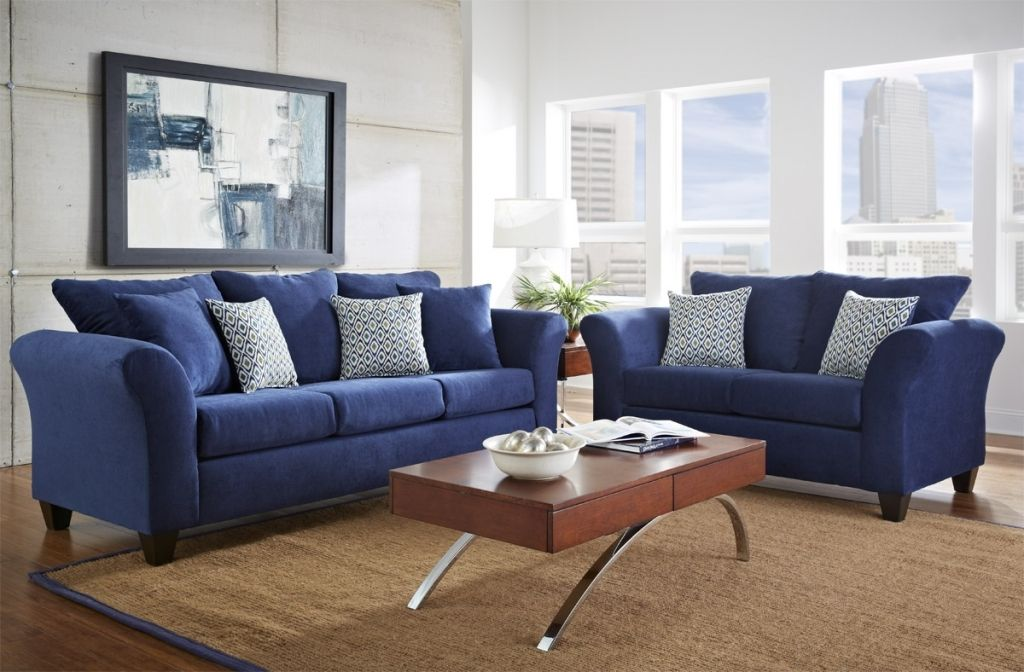 20 Navy Blue Living Room Set Magzhouse, Blue Living Room Furniture