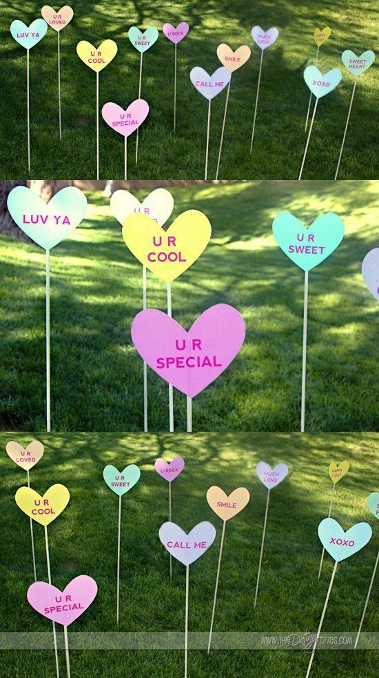 Valentine's Day Yard Decorations