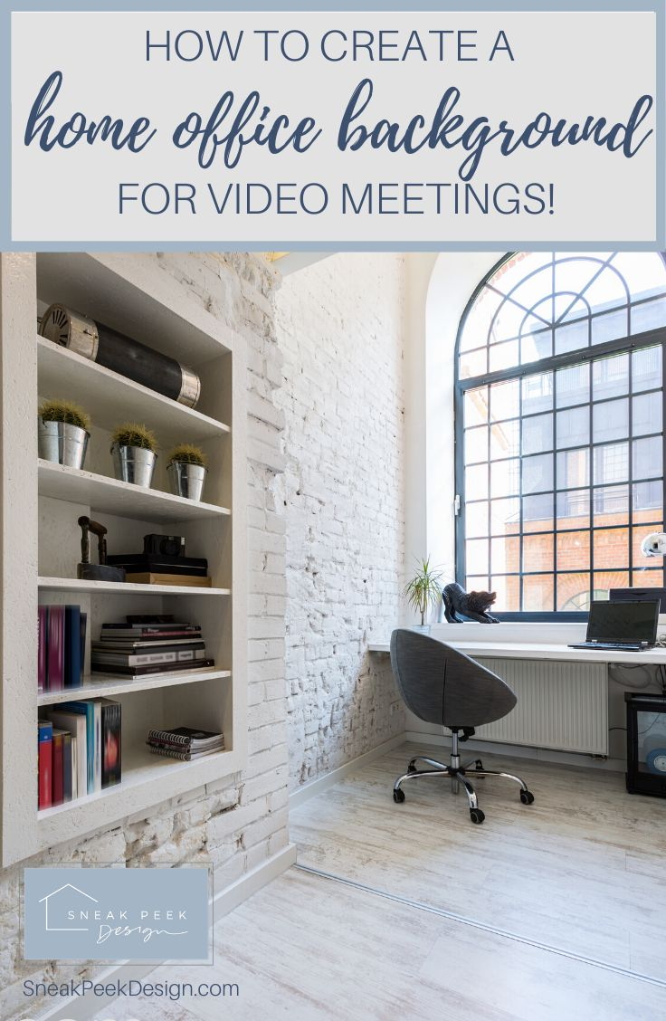 Home Office Backdrop For Video