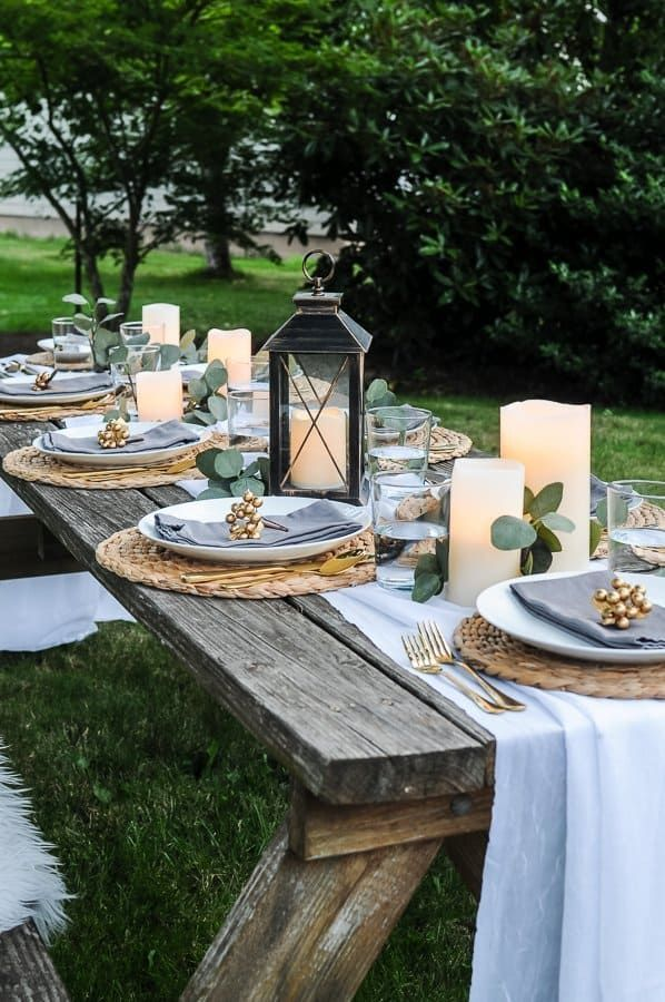 Outdoor Table Decoration For Summer