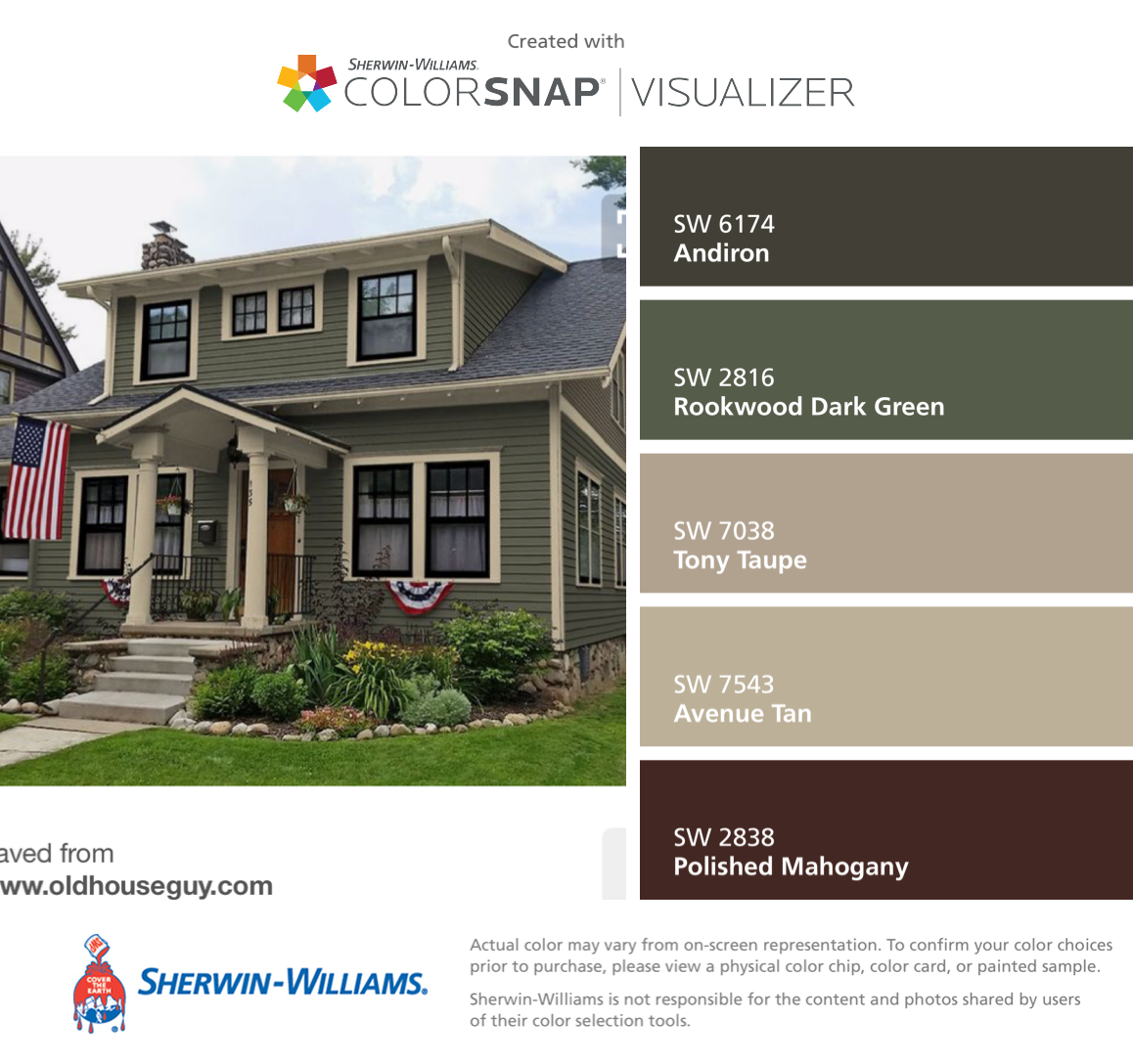 Green Exterior House Colors