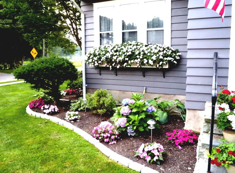 Front Yard Flower Bed Ideas Front Of House