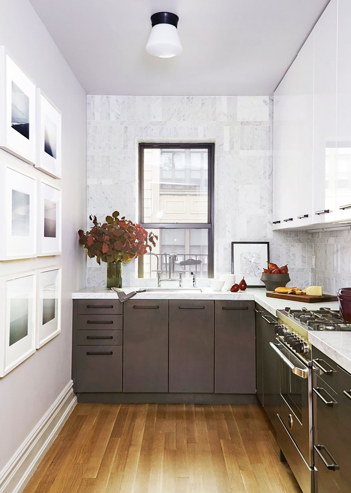 Small Kitchen Two Tone Kitchen Cabinets