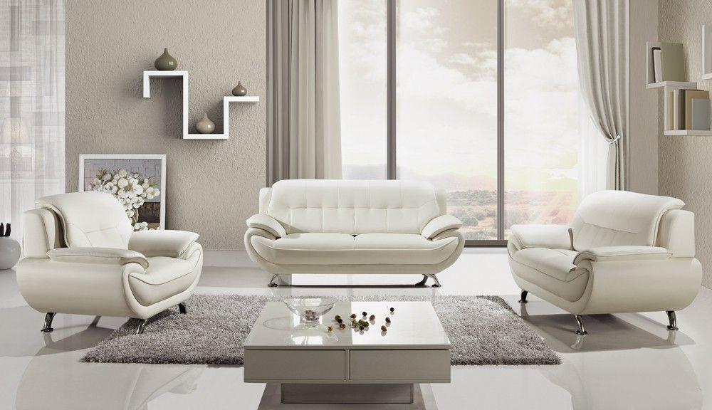20 White Leather Living Room Set, White Leather Living Room Set