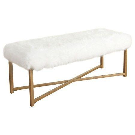 White Bedroom Bench