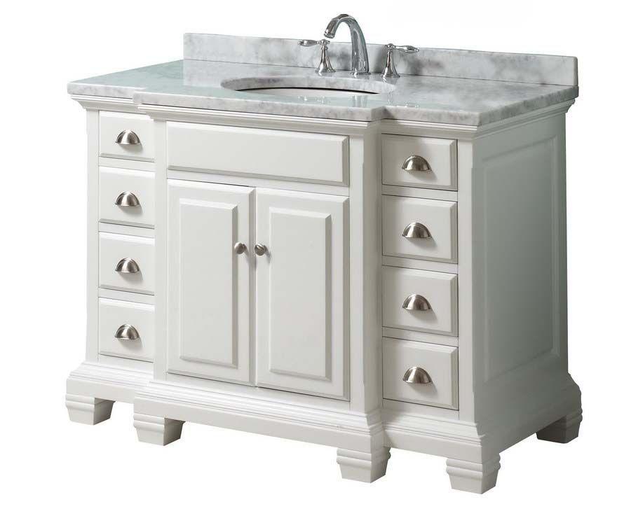 36 Inch White Bathroom Vanity