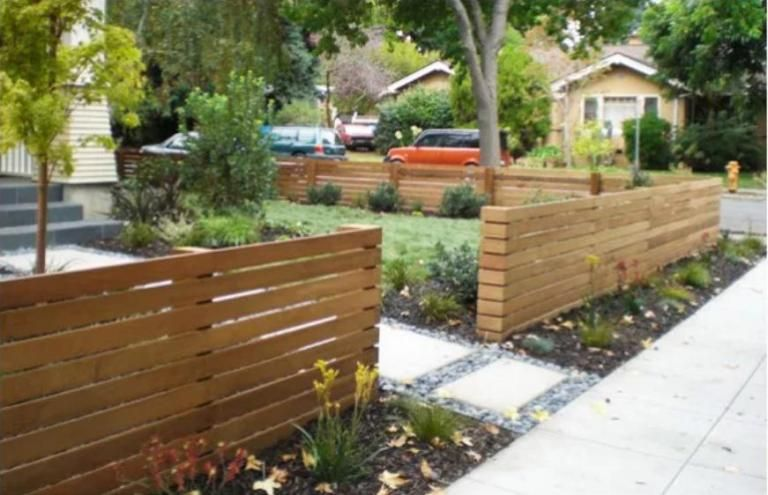 Front Yard Wood Fence