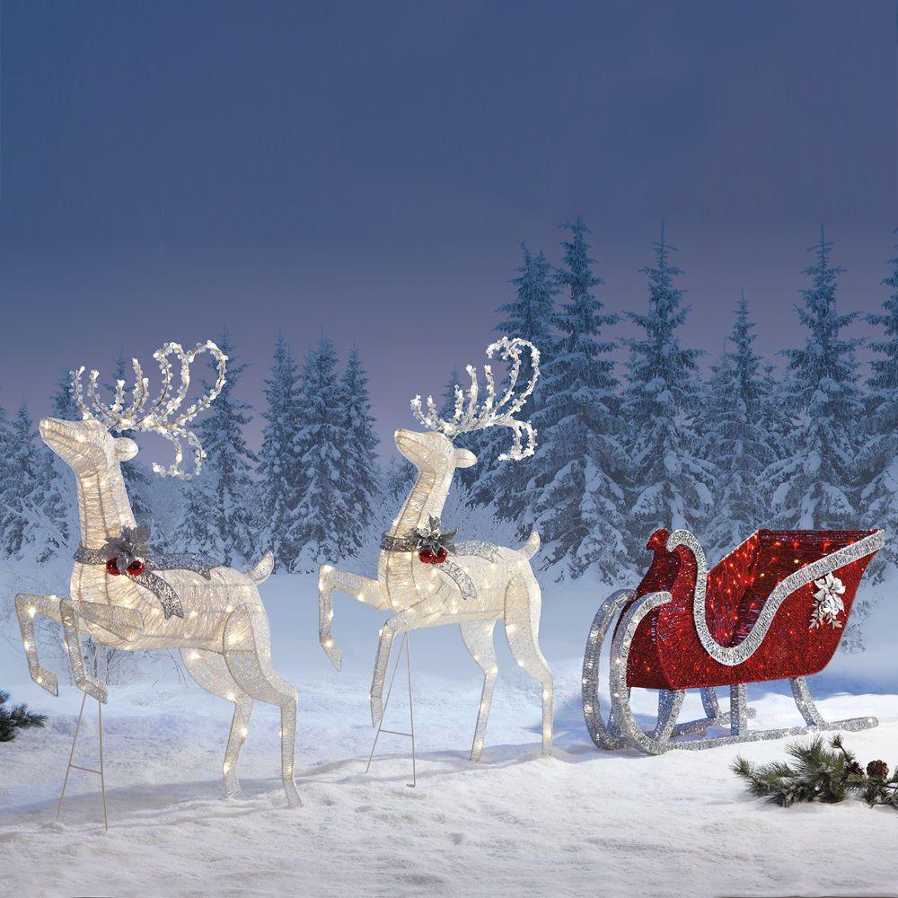 Santa Sleigh Outdoor Decoration