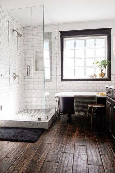 Wood Tile Bathroom Floor