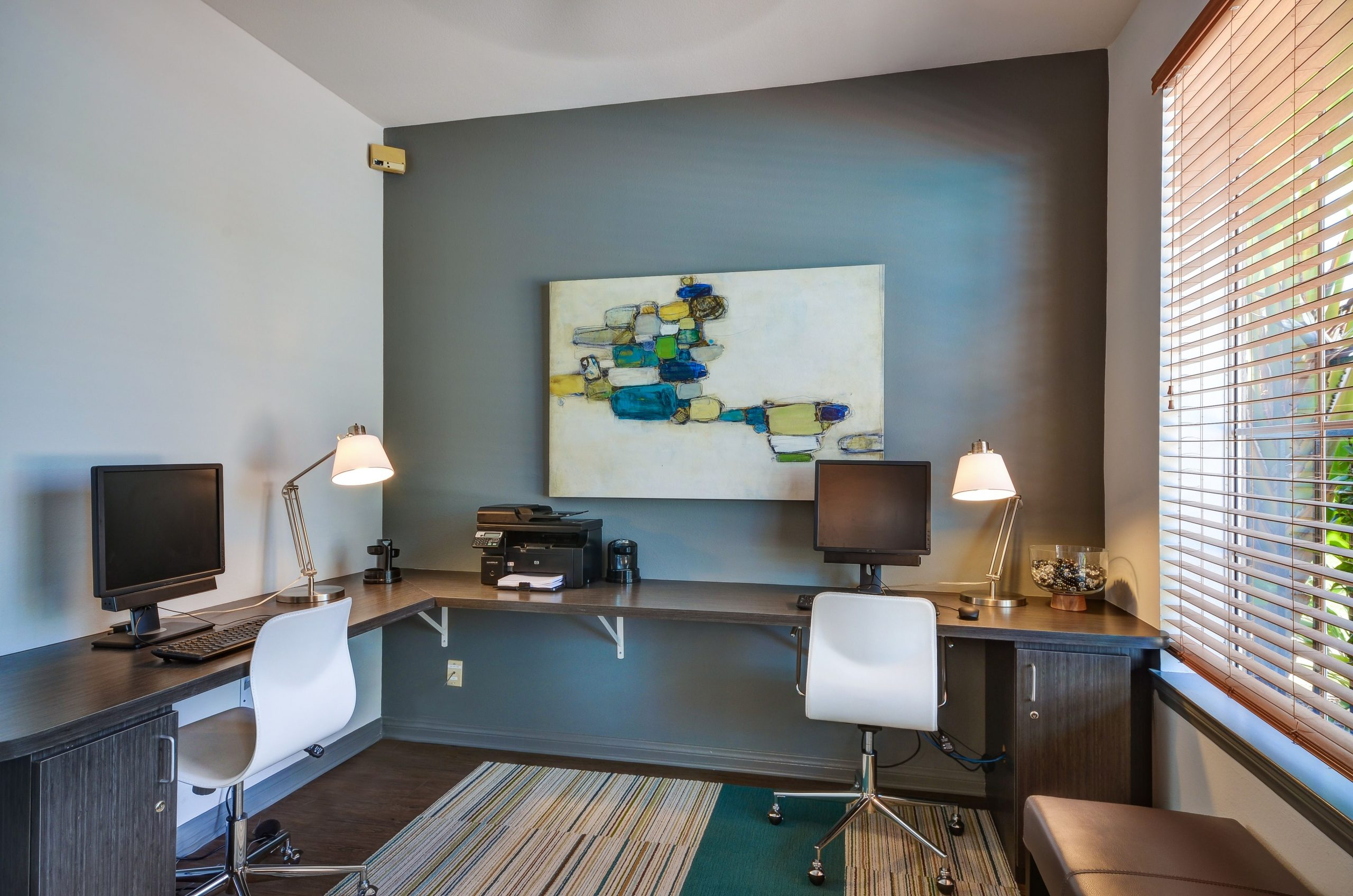 Home Office Accent Wall