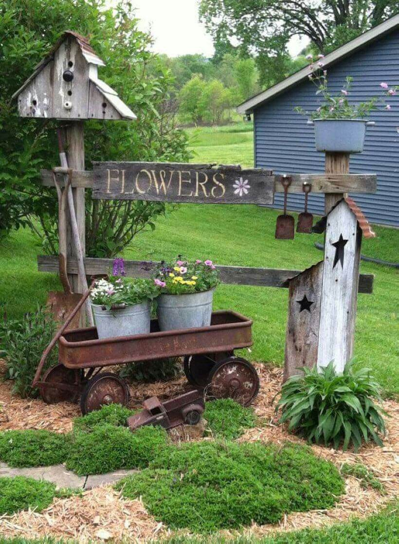 Rustic Country Outdoor Decor