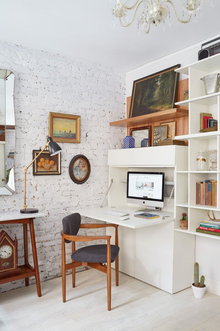 Small Home Office In Living Room Ideas