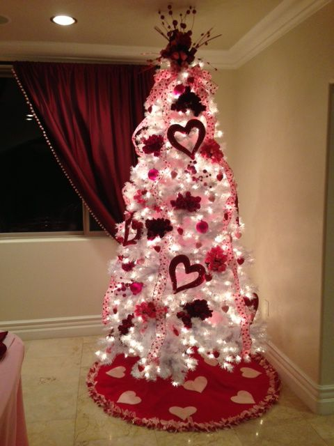 Valentines Christmas Tree Decorations