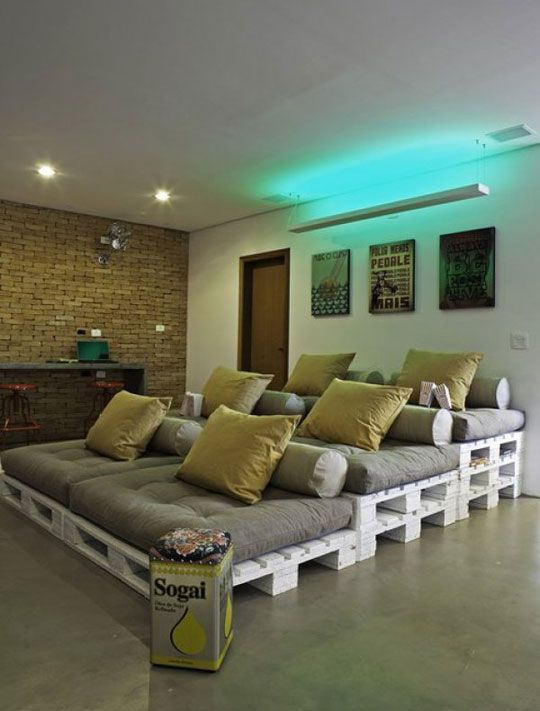 DIY Home Theater Seating