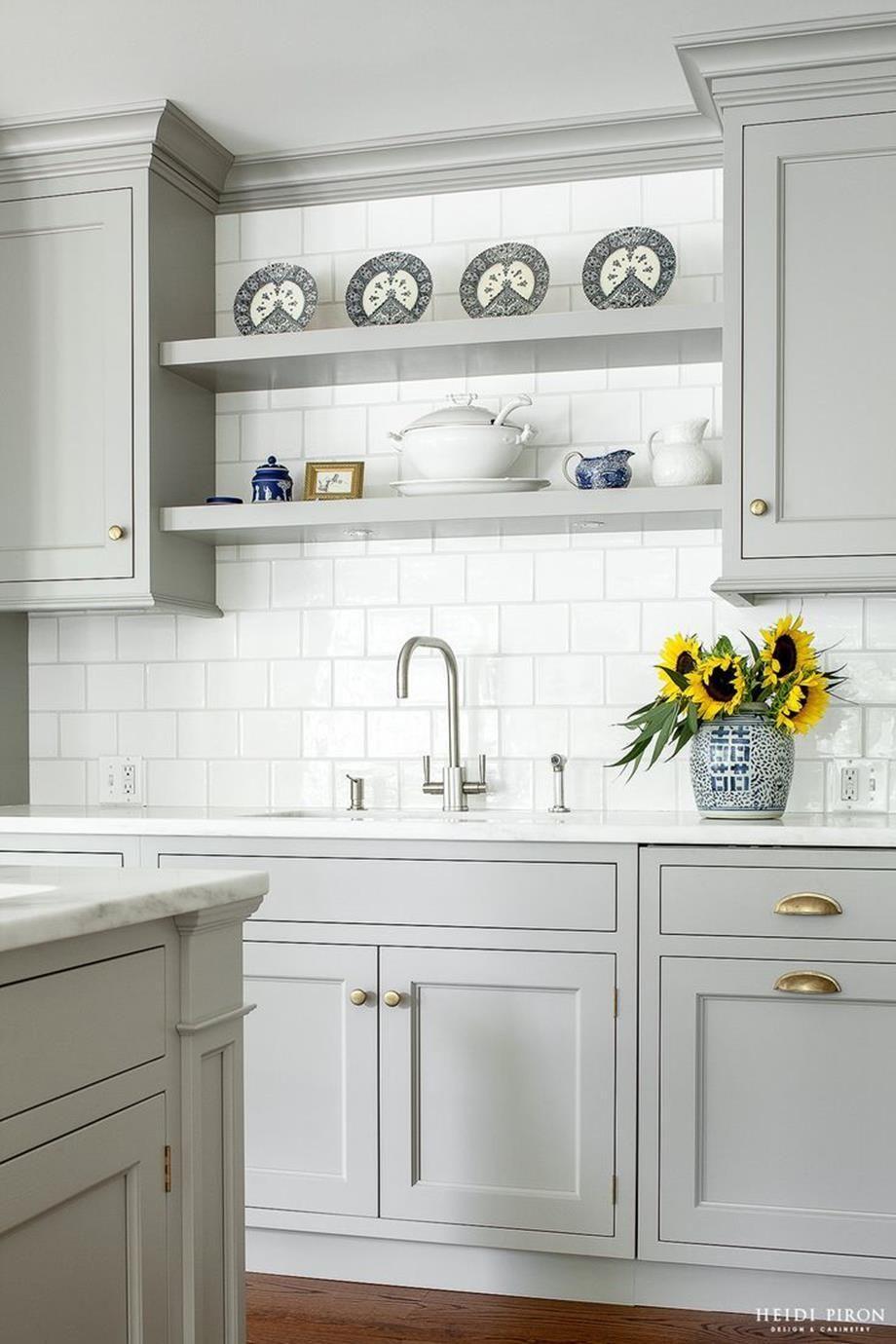 Light Grey Grey Kitchen Cabinets