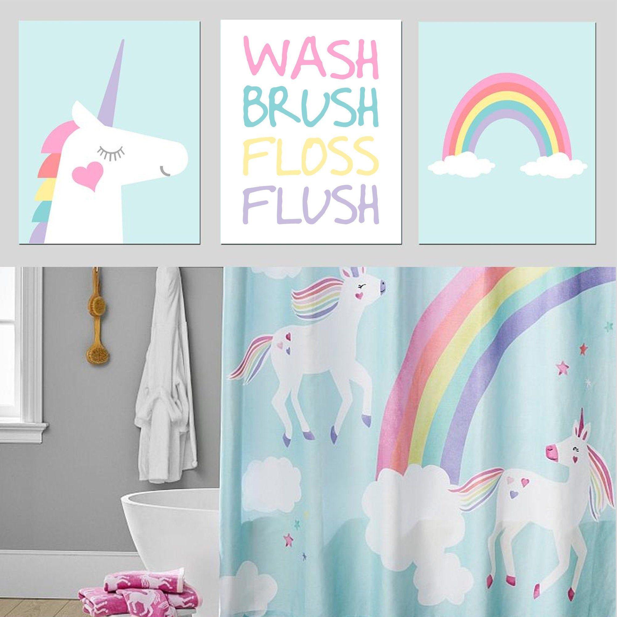 Unicorn Bathroom Set